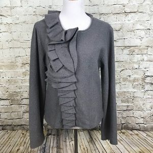 Cynthia Rowley Size Large Jacket Blazer Wool Gray